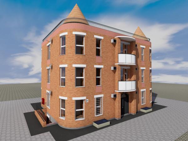 Проект одноподъездного трехэтажного дома