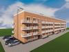 Проект четырехэтажного четырехподъездного дома на 32 квартиры