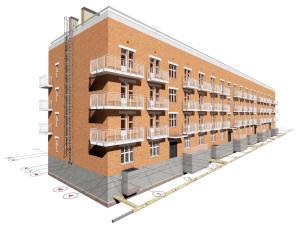 Проект 5-ти этажного жилого дома