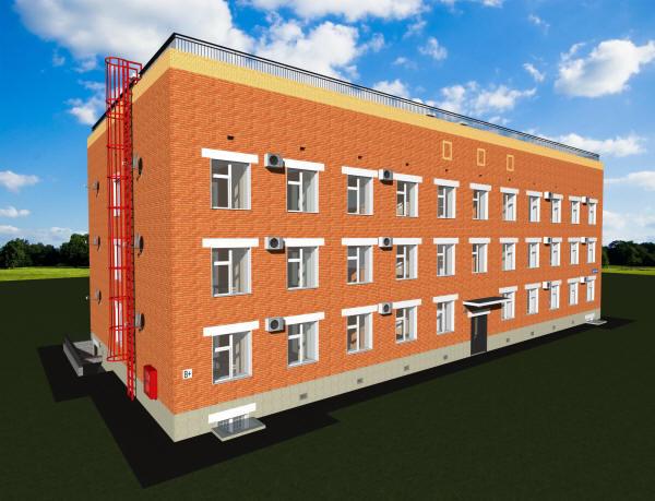 Проект трехэтажного жилого дома на 24 квартиры