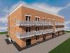 Проект трехэтажного одноподъездного дома на 32 квартиры-студии с нежилыми помещениями