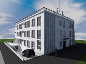 Проект четырехэтажного жилого дома на 18 квартир