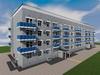 Проект четырехэтажного двухподъездного дома на 64 квартиры