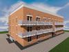 Проект трехэтажного одноподъездного дома на 48 квартир-студий