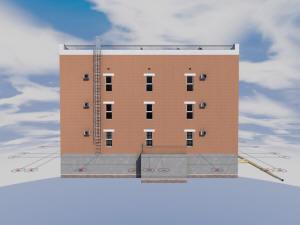 Проект трехэтажного жилого многоквартирного дома