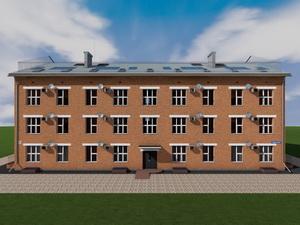 Проект трехподъездного трехэтажного жилого многоквартирного дома
