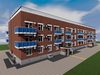 Проект трехэтажного двухподъездного дома на 48 квартир