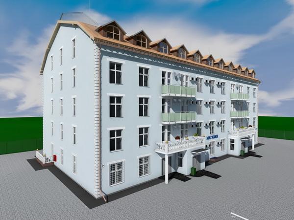 Проект трехэтажного двухподъездного жилого дома