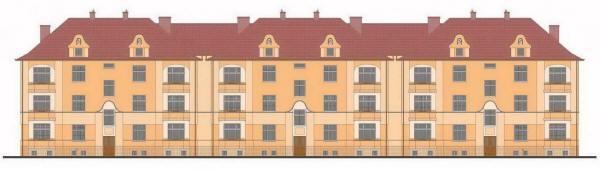 Проект трехэтажного трехподъездного жилого дома