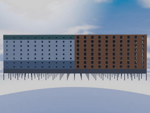 Проект супермаркета с многоэтажным паркингом