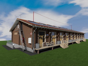 Готовый проект одноэтажного таунхауса из бруса на 10 семей