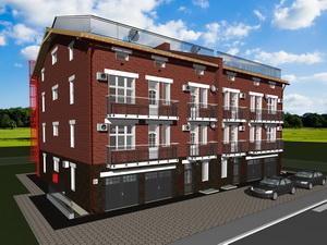 Готовый проект четырехэтажного таунхауса с лифтом (два блокированных дома - дуплекс)