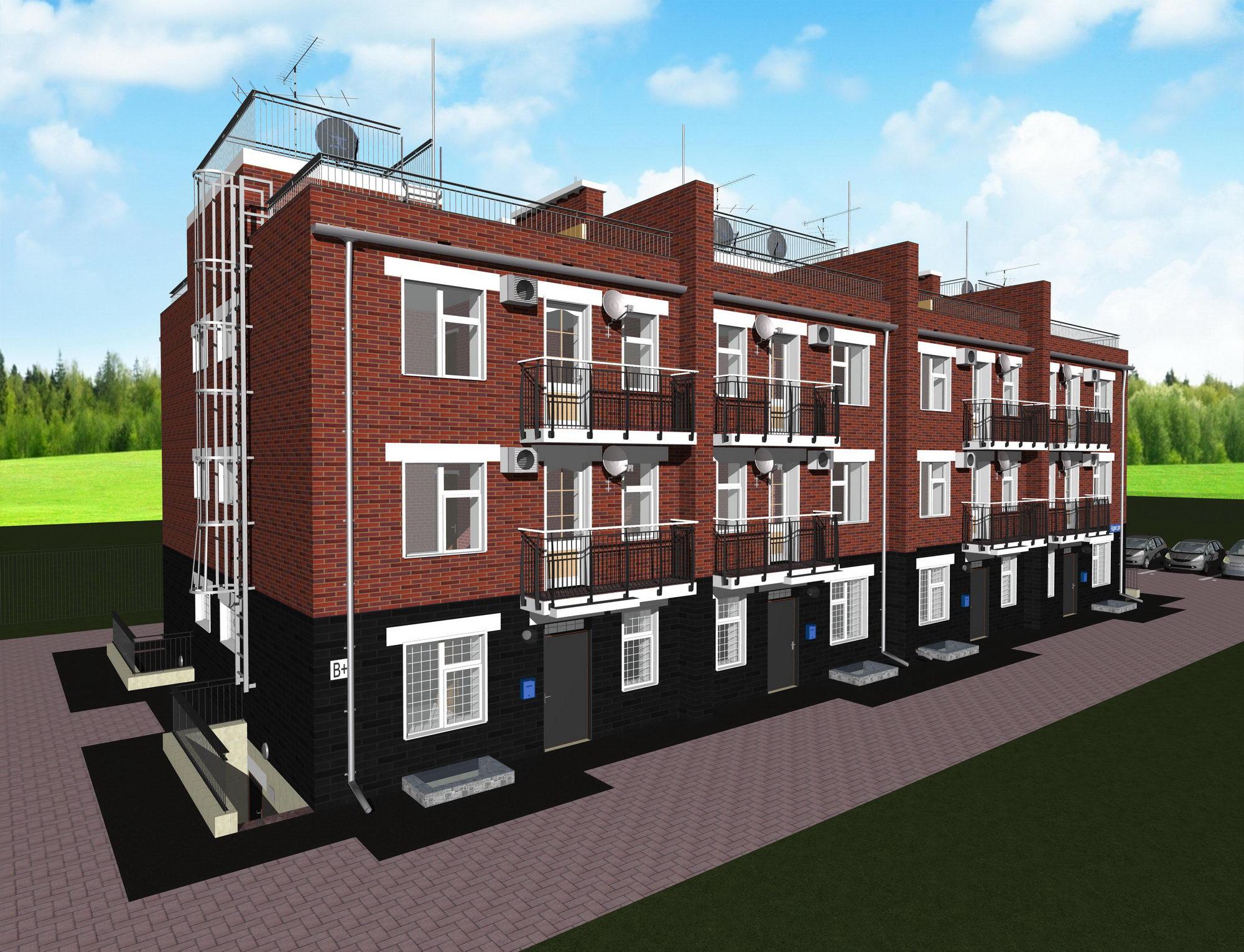 Монолитные дома от 300 до 400 квм - Дома из несъемной