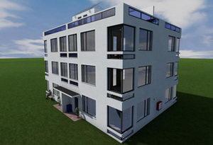 Проект трехэтажного квадрахауса