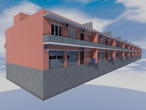 Проект трехэтажного таунхауса на 10 семей